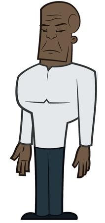 tough guy - vector illustration Ilustracja