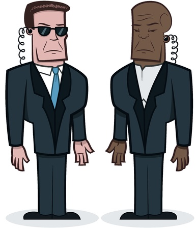 Bodyguards - vector illustration