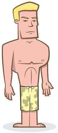 Surfer Dude - vector illustration