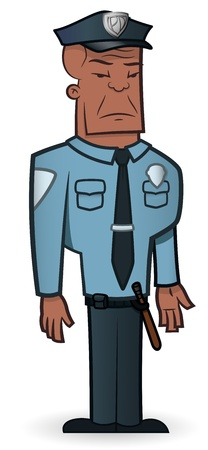 tough man: Police Officer - Illustration Illustration
