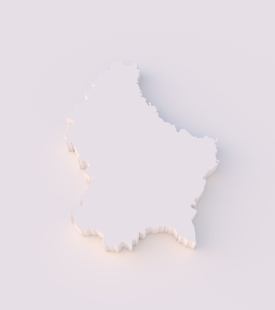 Luxembourg map 3D with clipping path photo