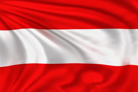 オーストリアの国旗 写真素材