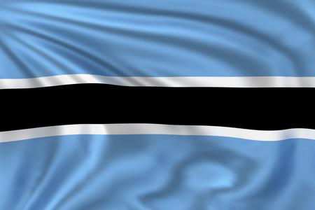 botswana: Botswana flag Stock Photo