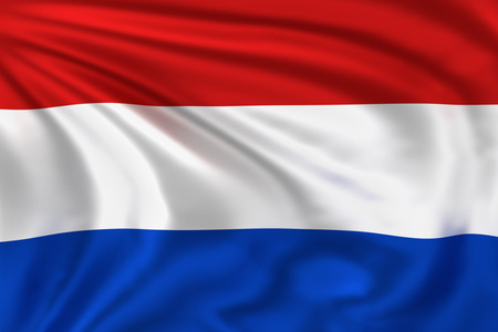 Vlag van Nederland Stockfoto