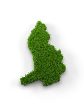 liechtenstein: Liechtenstein map made of grass Stock Photo