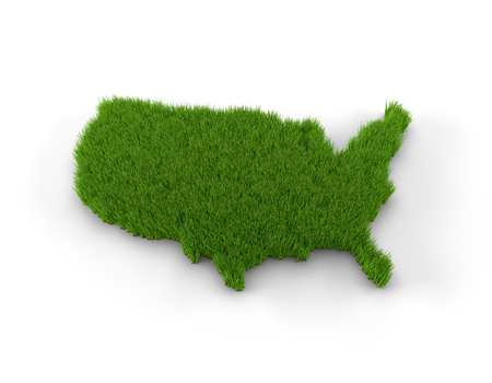 north american: USA map made of grass