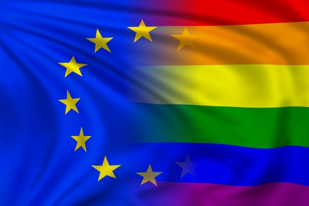 trans gender: EU and Rainbow flag
