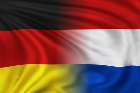 Germany and Netherlands flag photo