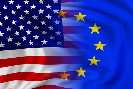 eu: USA and EU flag Stock Photo