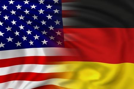 USA and Germany flag photo