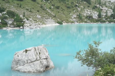 lake with rock