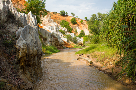 stratification: Fairy Stream, Suoi Tien , Beautiful mountains and water.Asia