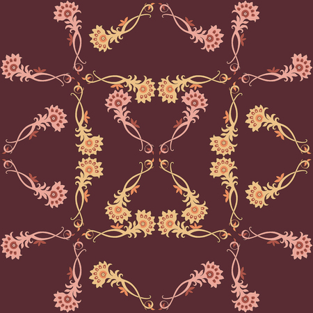 warm colors: decorative print in warm colors. seamless vector pattern