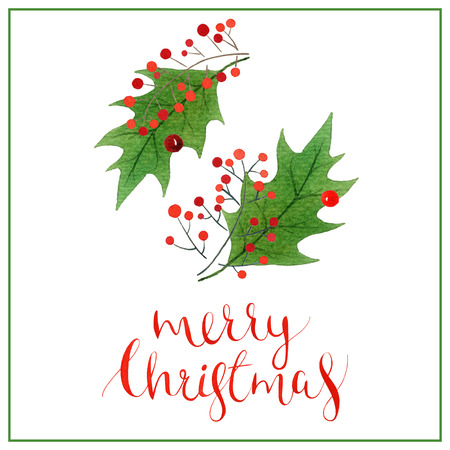 Christmas lettering, holiday calligraphy phrase isolated on white background
