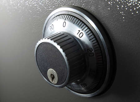 combination lock: combination safe lock in horizontal format Stock Photo