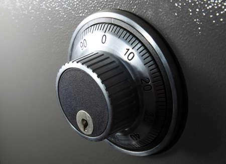 combination: combination safe lock in horizontal format Stock Photo