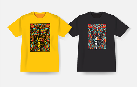 funk: T-shirt with Funk music print.