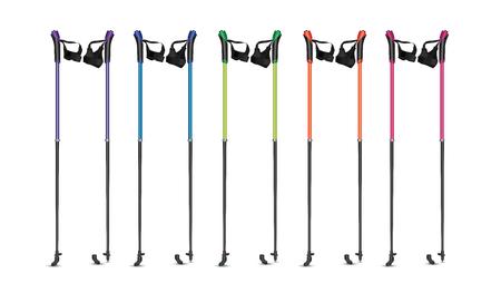 Vector illustratie van Nordic Walking poles. Realistische illustratie van sportapparatuur. Vector Illustratie