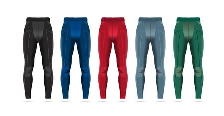 sport man: Vector illustration of fitness leggings for men. Realistic illustration of pants for summer sports. Illustration