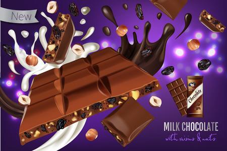 Illustratie van melkchocola.