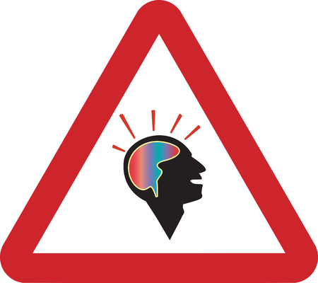 contemplate: Road Sign Man Thinking