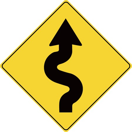 winding: Road Sign Winding Road