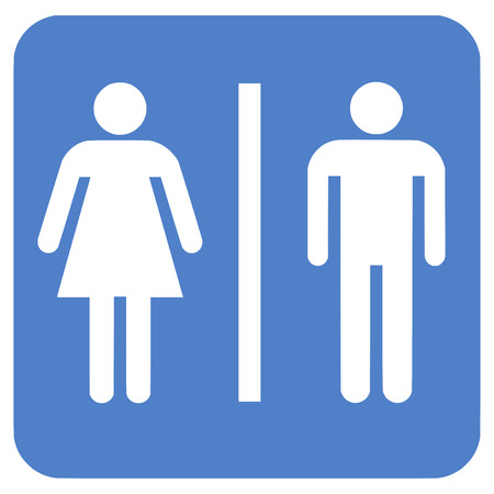 man and women wc sign: Bathroom Gender Sign