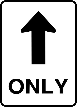 one way sign: One Way Road Sign