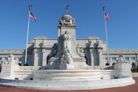 burnham: Christopher Columbus statue in front of Union Station in Washington D.C.
