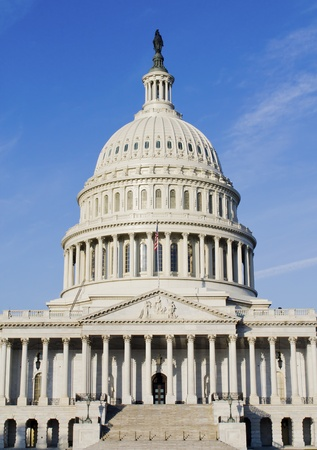 dome building: US Capitol Building, Washington DC, USA, East facade Stock Photo