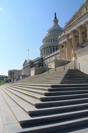 lobbyists: US Capitol Building with stairs, washington DC, East facade