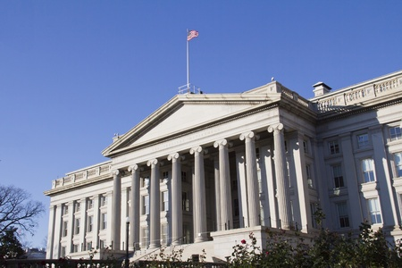 The Treasury Department in Washington DC,USA Banque d'images