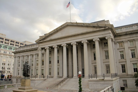 The Treasury Department in Washington DC, USA
