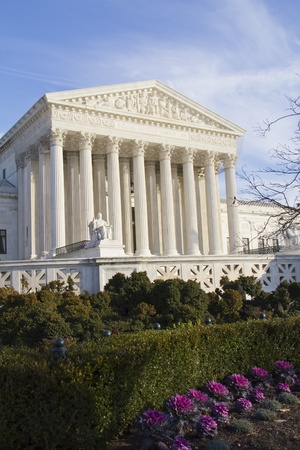 Facade of US Supreme court in Washington DC on sunny day Stock Photo - 13159739