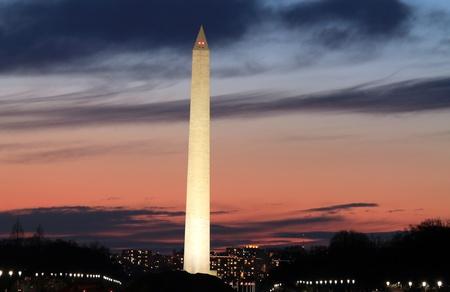 Washington Monument at Dusk , Washington DC  photo