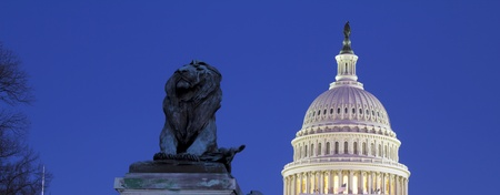 US Capitol Building Dome at dusk, blue sky Washington DC  United States Of America Stock Photo - 13198737