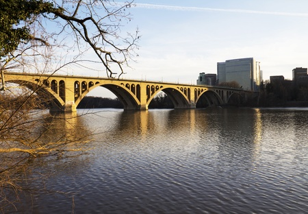 Georgetown Bridge, Washington DC over the Potomac River Stock Photo - 13279379