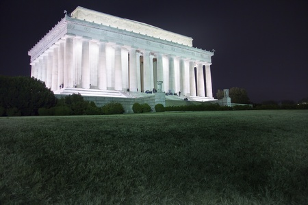 The Lincoln Memorial at night in Washington DC  Stock Photo