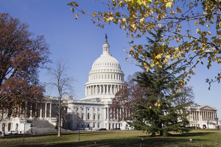 lobbyists: US Capitol Building, Washington, DC, US Congress, It is at the east end of the National Mall  Stock Photo