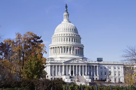 governing: US Capitol Building, Washington, DC, US Congress, It is at the east end of the National Mall  Stock Photo