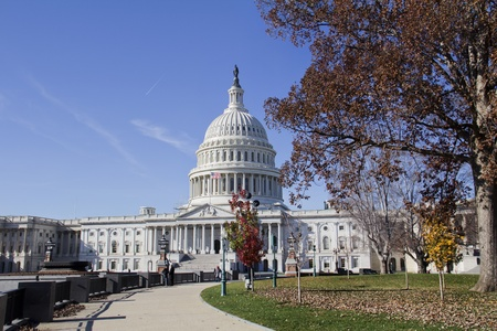 east end: US Capitol Building, Washington, DC, US Congress, It is at the east end of the National Mall  Stock Photo