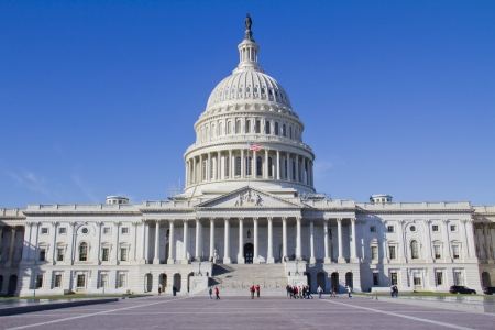 government: US Capitol Building, Washington, DC, US Congress, It is at the east end of the National Mall  Stock Photo