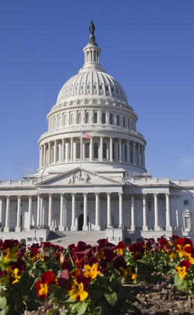 lobbying: US Capitol Building, Washington, DC, US Congress, It is at the east end of the National Mall  Stock Photo