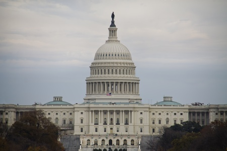 United States Capitol Building on cloudy day