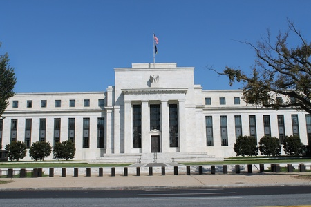 fed: View of the headquarters of the Federal Reserve in Washington, DC, USA Stock Photo