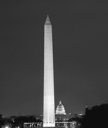 forefathers: Washington DC - Monument and Capitol building in the night