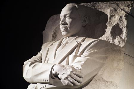 Martin Luther King Jr Monument à Washington DC, dans la nuit Banque d'images - 13863306