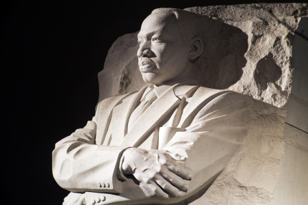 Martin Luther King Jr Monument in Washington DC, 's nachts