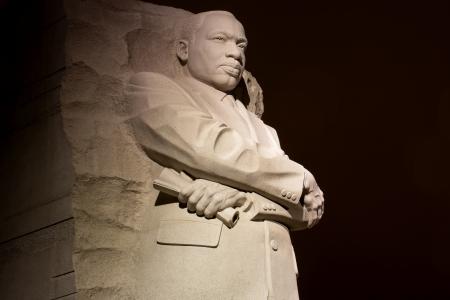 Martin Luther King Jr Monument à Washington DC, dans la nuit Banque d'images - 13871907