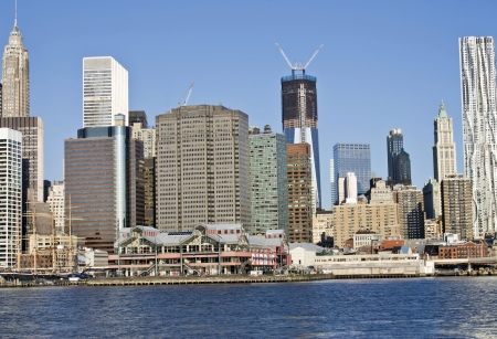 Lower Manhattan in a sunny morning, New York, United States  photo